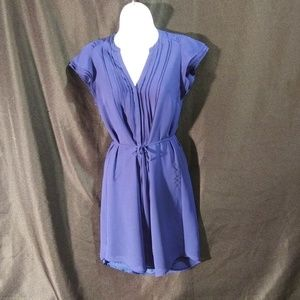 H&M Tie Dress Navy Blue